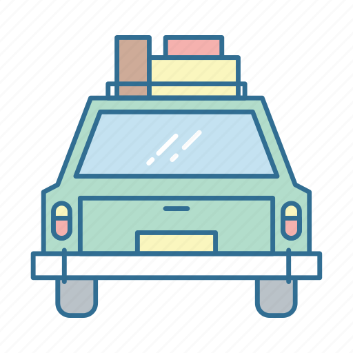 baggage, car, luggage, roadtrip, transport, travel, trip icon