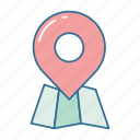 direction, gps, map, navigation, pin, position, roadtrip icon