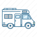 camper, caravan, roadtrip, travel, vacation, van, vehicle icon