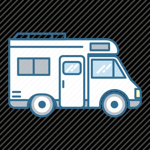 camper, caravan, roadtrip, travel, vacation, van, vehicle icon