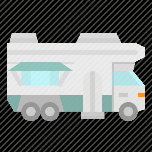 car, caravan, transportation, travel, trip icon