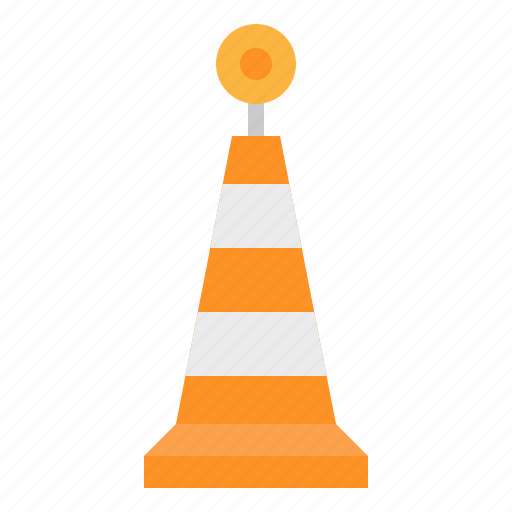 caution, cone, road, signs, traffic icon