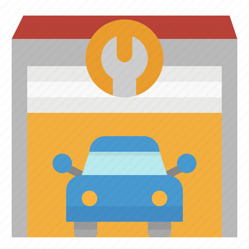 automobile, car, fix, garage, transportation icon