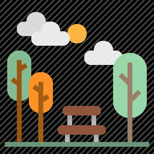 landscape, leisure, nature, park, trees icon