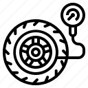 garage, tire, transportation, tyre, wheel icon
