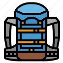 backpack, bag, baggage, luggage, travel icon