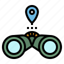 binoculars, observant, plan, sight, vision icon