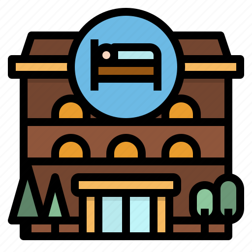 buildings, home, hotel, resort, trip icon