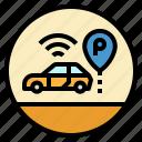 car, park, parking, sign, transportation icon