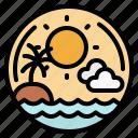 beach, sea, sun, sunset, travel