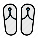 flip, flops, footwear, sandals, slipper icon