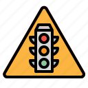 light, road, sign, signal, traffic icon