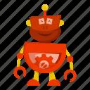 cartoon, character, cyborg, robot