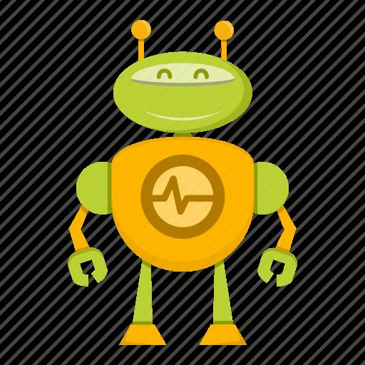 avatar, cartoon, cyborg, robot, toy icon