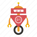 avatar, cartoon, cyborg, robot, toy icon