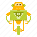 cartoon, robot, robotics, toy icon