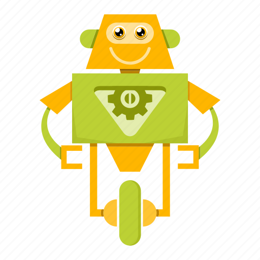 Robotics, toy, cartoon, robot icon