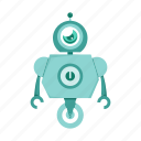 android, cartoon, robot, toy icon