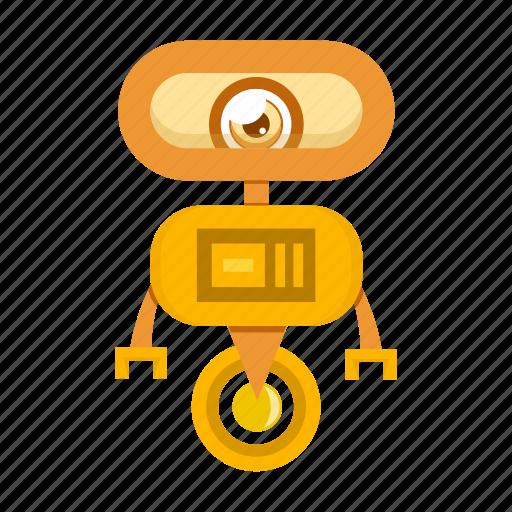 Robot, cartoon, robotic icon