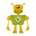 cartoon, cyborg, robot icon