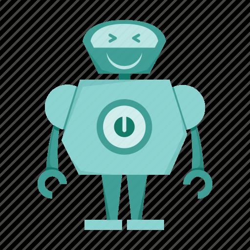 cartoon, robot, robotic icon