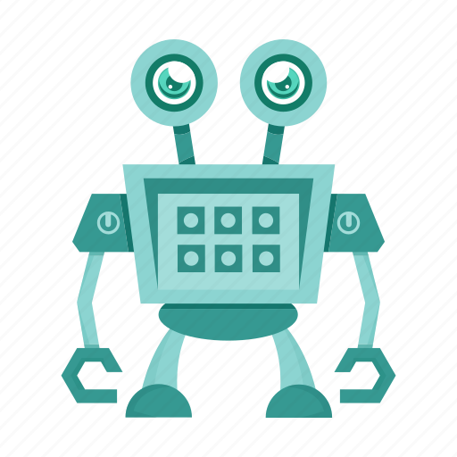 artificial intelligence, cartoon, robot, toy icon