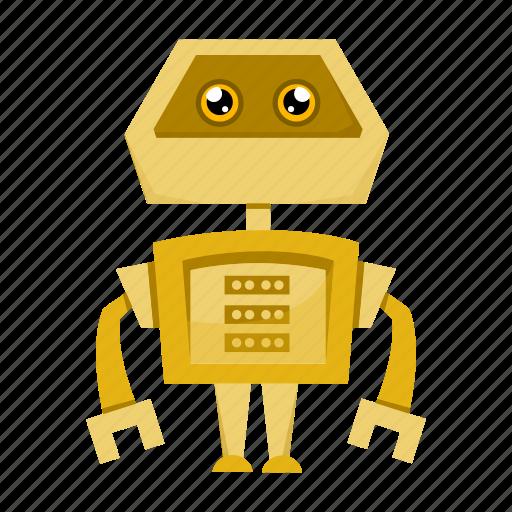 cartoon, cyborg, robot, toy icon