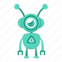 avatar, cartoon, cyborg, robot icon