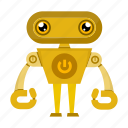cartoon, robot, robotic icon