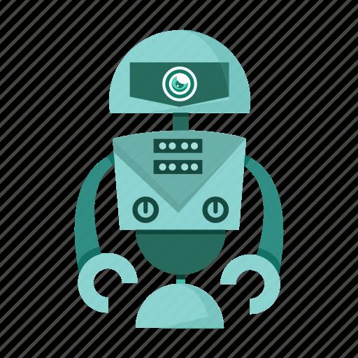 cartoon, cyborg, robot icon