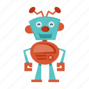 cartoon, funny, robot, robotics icon