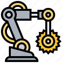assembly, factory, machinery, robotic, tool icon