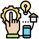 application, data, integrator, link, systems icon