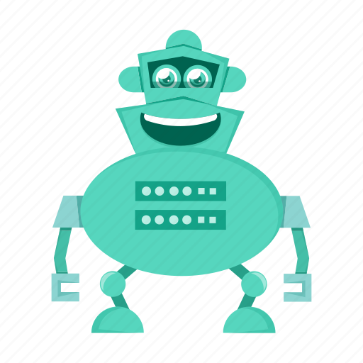android, cartoon, character, robot icon