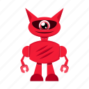cartoon, character, cyborg, robot icon