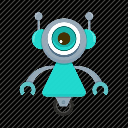 cartoon, character, cyborg, robot icon