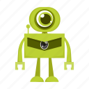 cartoon, character, machine, robot icon