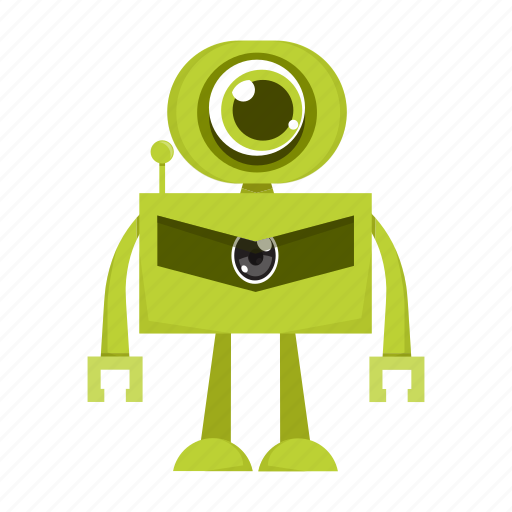 cartoon, character, machine, robot icon