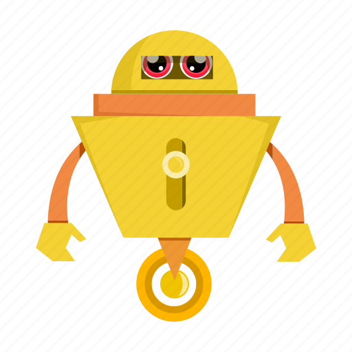cartoon, character, robot, robotic icon
