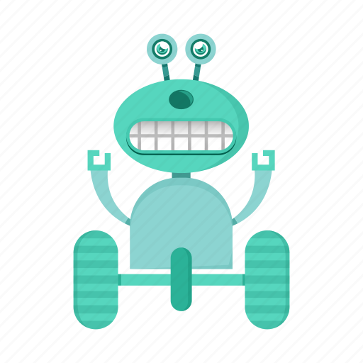 cartoon, character, robot, toy icon