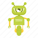 cartoon, cyborg, robot, toy icon