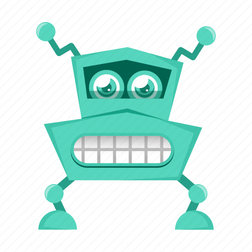 cartoon, character, cyborg, robot, toy icon