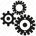 cog, gear, mechanical, rotate icon