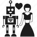 artificial intelligence, human, love, robot icon