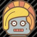 avatars, bot, droid, lady, robot icon