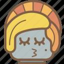 avatars, bot, droid, kiss, lady, robot icon