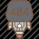 avatars, bot, droid, error, robot icon