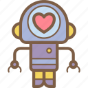 avatars, bot, droid, love, robot