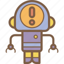 alert, avatars, bot, droid, robot icon