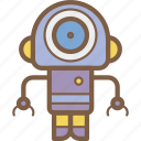 avatars, bot, droid, robot, search icon